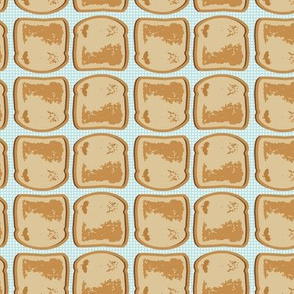 16-12D Retro Toast on blue gingham_Miss Chiff Designs
