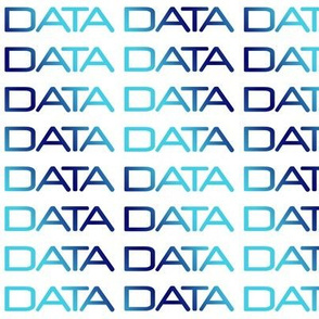 DATA, bright-dark-bright blue gradient text on white, by Su_G_©SuSchaefer