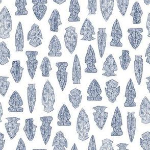arrowheads - navy on white