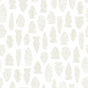 arrowheads - bisque on white
