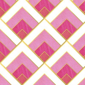Pink Diamond Art Deco Diamond Pattern