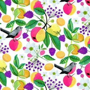 Fruits and florals