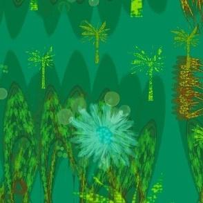 Variegated Green Tropical Garden