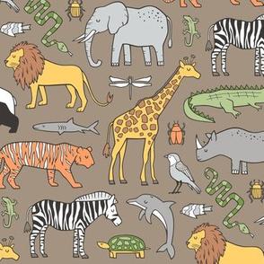 Cat Animals Cotton Fabric Elephant Lion Alphabet Zoo: Zebra
