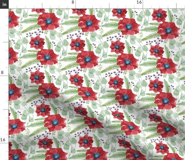 Sky Blue Pink /& White on Marine Textiles français STEPPING STONES Fabric Red