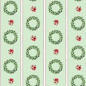 Christmas Wreaths Stripe