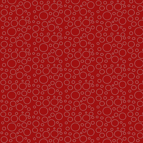 Abigale_and_roo_Red_white_dot_circles