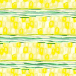 16-13M Corn Stripes Vegetable Food Garden Midwest Horizontal Stripe Abstract _Miss Chiff Designs