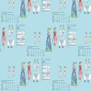 Paper pattern - blue background