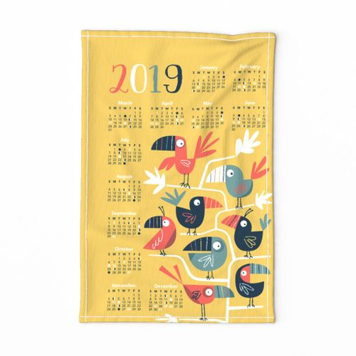 2019 Toucan Tea Towel