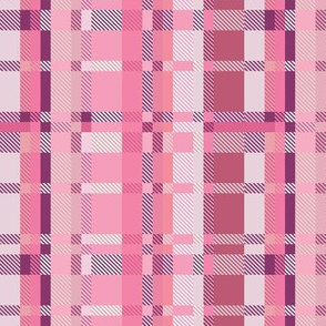 Flamingo Pink Plaid Coordinate