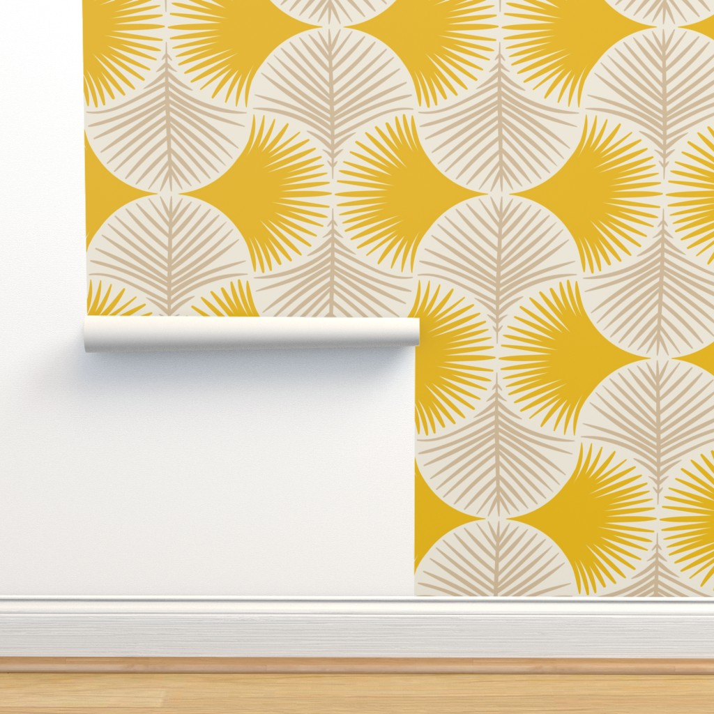 Isobar Durable Wallpaper featuring Tropical geometry - yellow by innamoreva