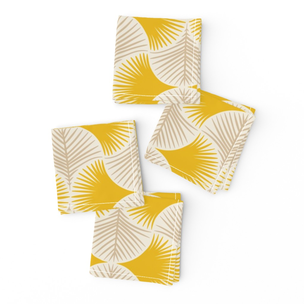 Frizzle Cocktail Napkins featuring Tropical geometry - yellow by innamoreva