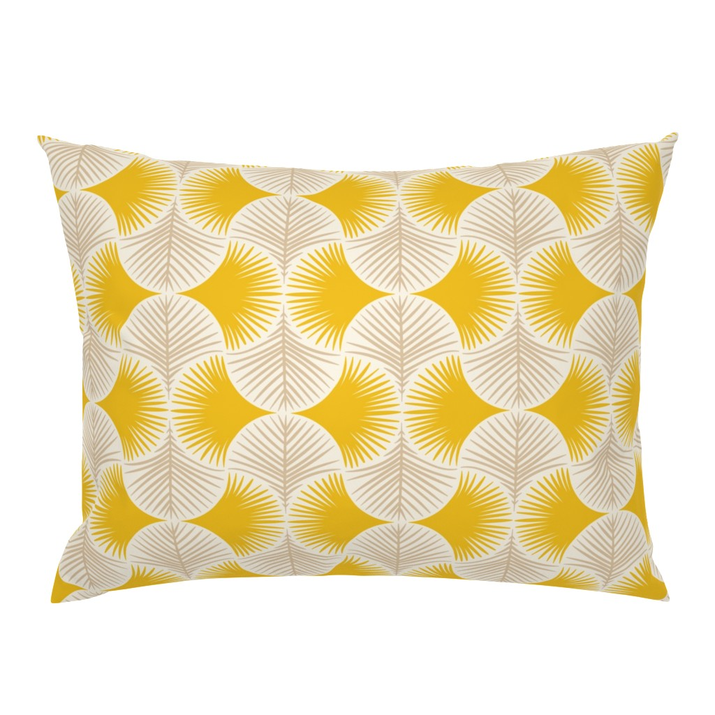 Campine Pillow Sham featuring Tropical geometry - yellow by innamoreva