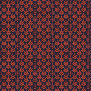 tail feathers navy red