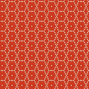 dots chicken wire red