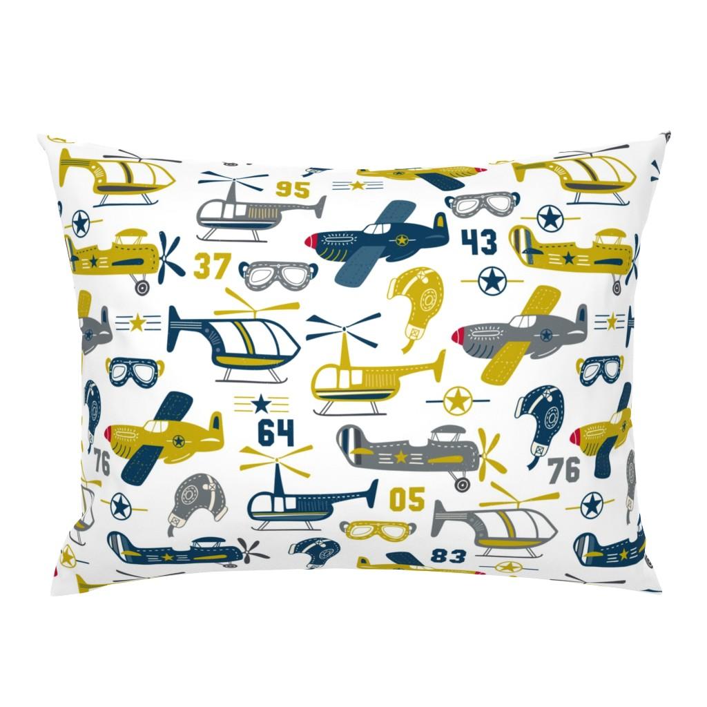 Campine Pillow Sham featuring Vintage Airplanes by bethschneider