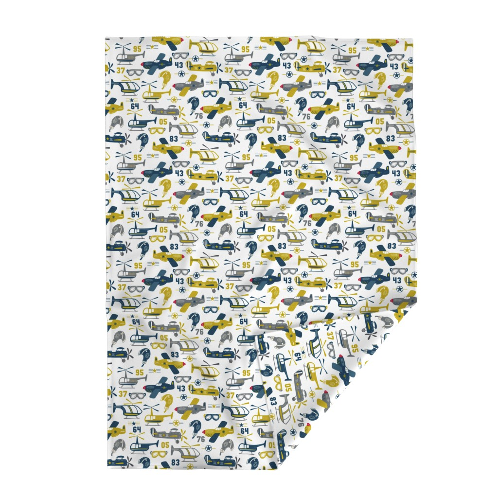 Lakenvelder Throw Blanket featuring Vintage Airplanes by bethschneider