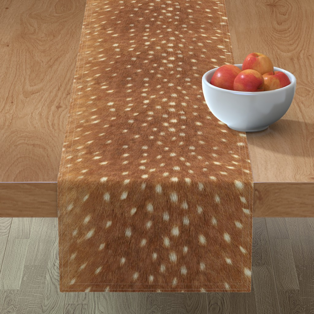 Minorca Table Runner featuring Soft Deer Hide // Spring Fawn by willowlanetextiles
