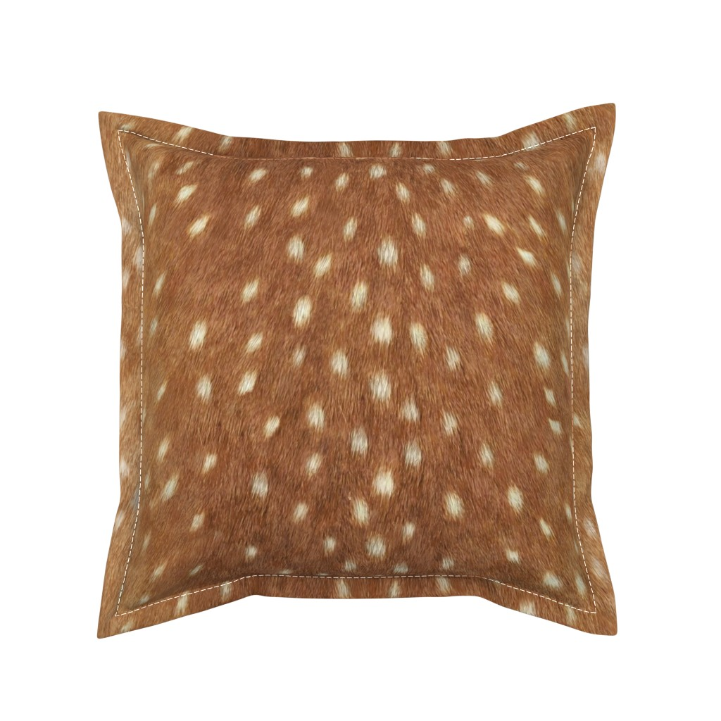 Serama Throw Pillow featuring Soft Deer Hide // Spring Fawn by willowlanetextiles