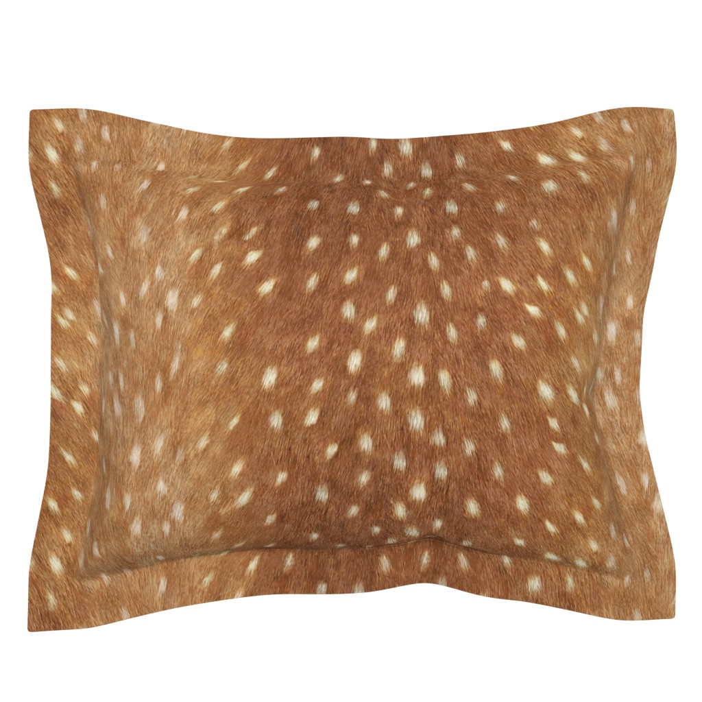 Sebright Pillow Sham featuring Soft Deer Hide // Spring Fawn by willowlanetextiles