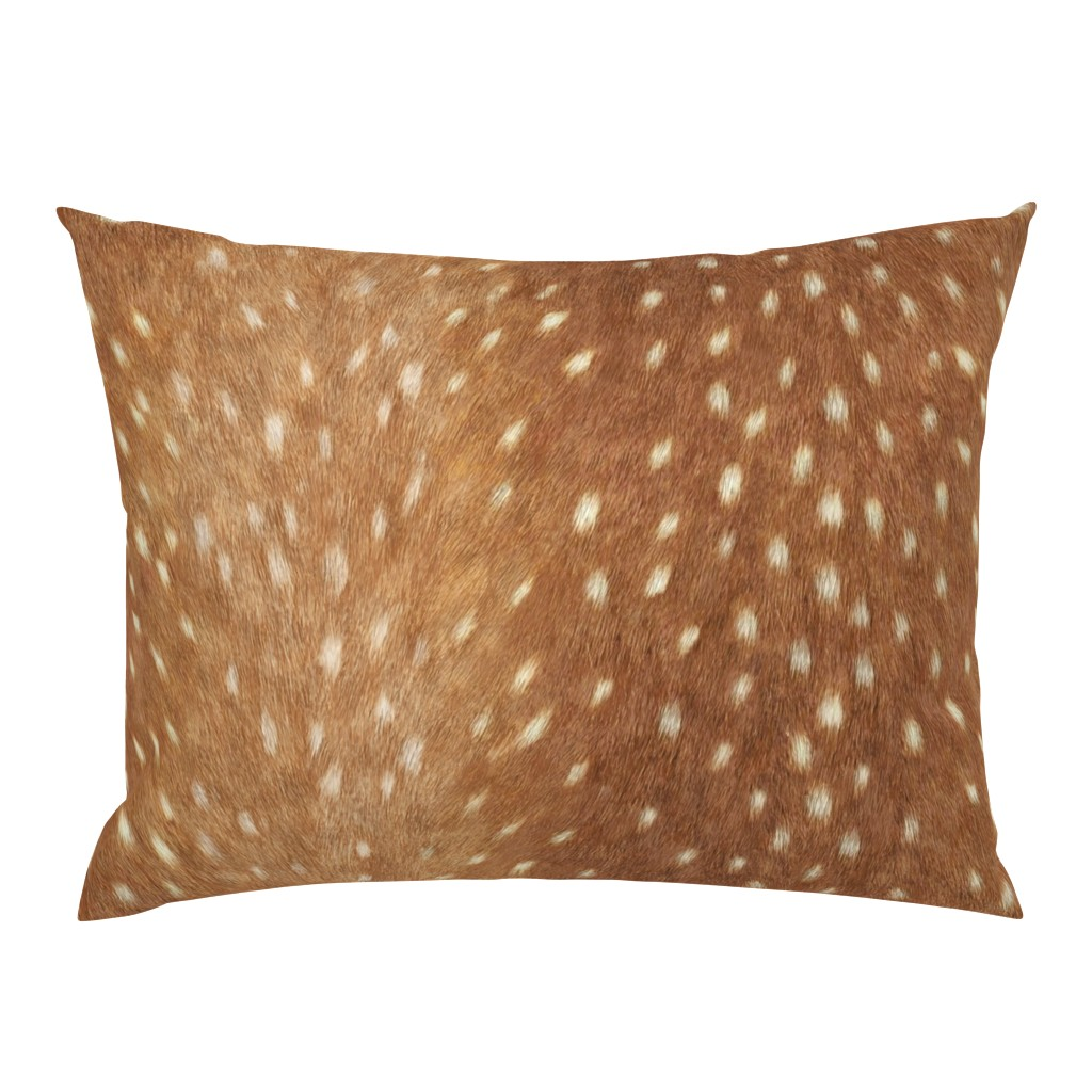 Campine Pillow Sham featuring Soft Deer Hide // Spring Fawn by willowlanetextiles