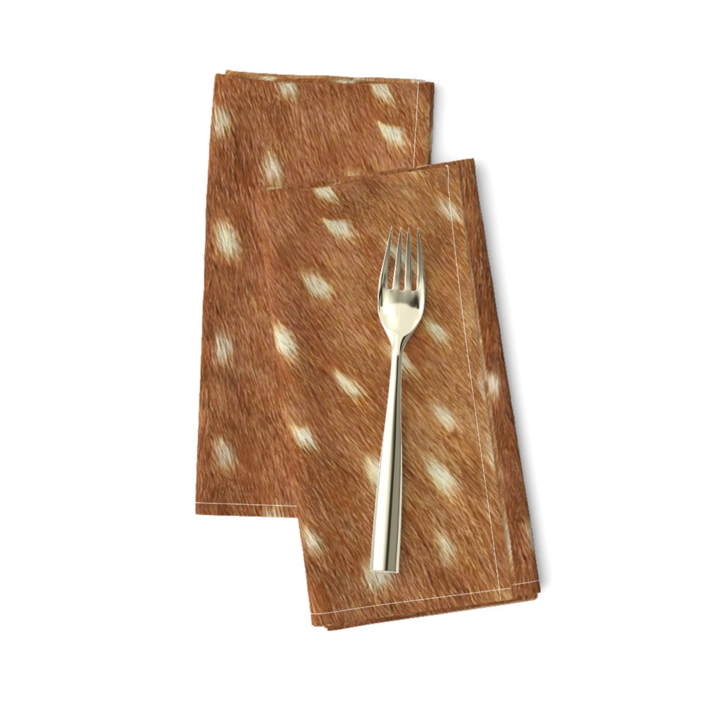 Amarela Dinner Napkins featuring Soft Deer Hide // Spring Fawn by willowlanetextiles