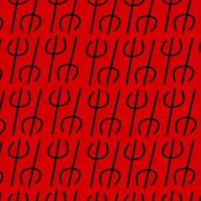 Lil Devil's Pitchfork in Black and Red