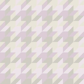 harlequin houndstooth - lilac, mauve and grey