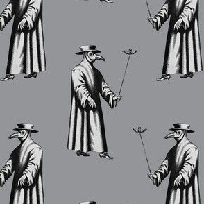 Plague Doctor on Light Grey