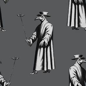 Plague Doctor on Dark Grey
