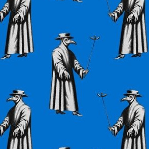 Plague Doctor on Blue