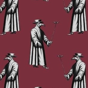 Plague Doctor on Red