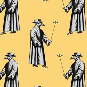 Plague Doctor on Yellow