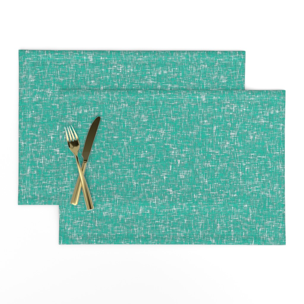 Lamona Cloth Placemats featuring Blue-green tweedy linen-weave by Su_G_©SuSchaefer by su_g