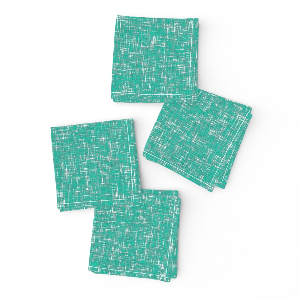 Frizzle Cocktail Napkins featuring Blue-green tweedy linen-weave by Su_G_©SuSchaefer by su_g