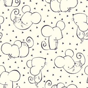 Winter Forest Inky Mouse