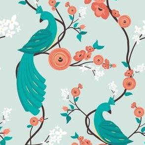 Peacock garden - mint