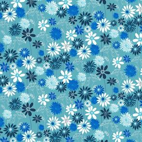 Blue Summer Floral