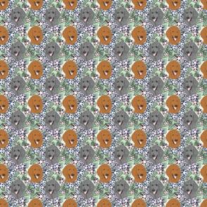 Floral Standard Poodle portraits B - small