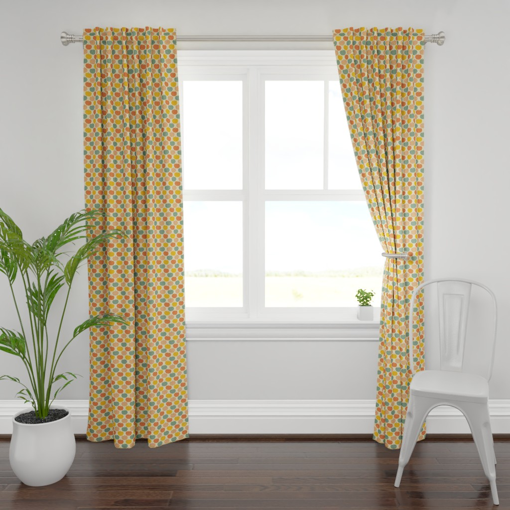 Plymouth Curtain Panel featuring Pumpkin Patch by taylorshannon
