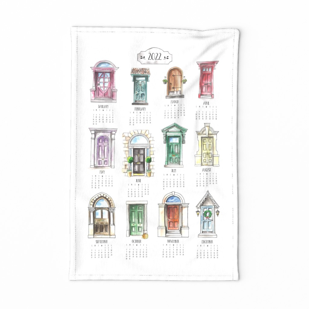 Special Edition Spoonflower Tea Towel featuring Be an Opener of Doors Tea Towel by melissa_colson