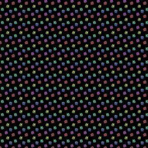 Ferret tracks - rainbow on black