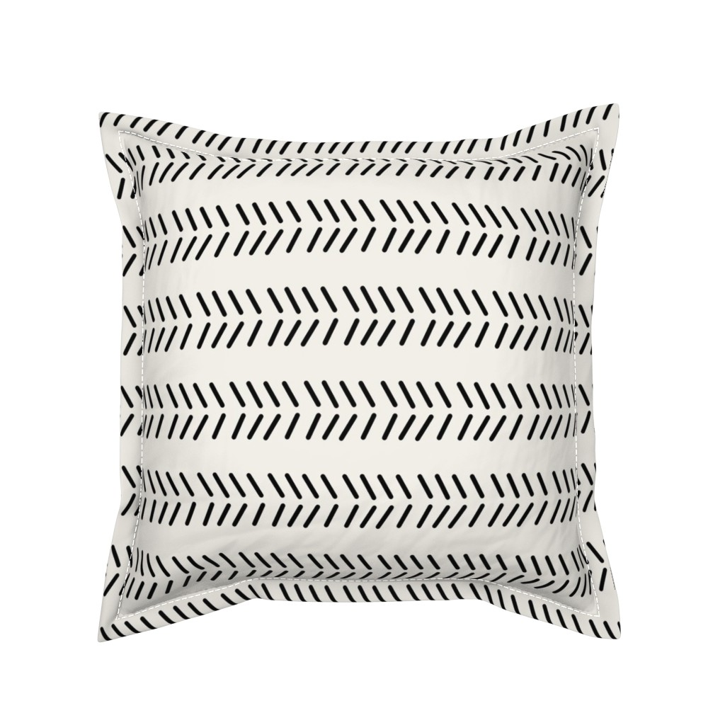 Serama Throw Pillow featuring Mudcloth_3 - Inverted by kelly_korver