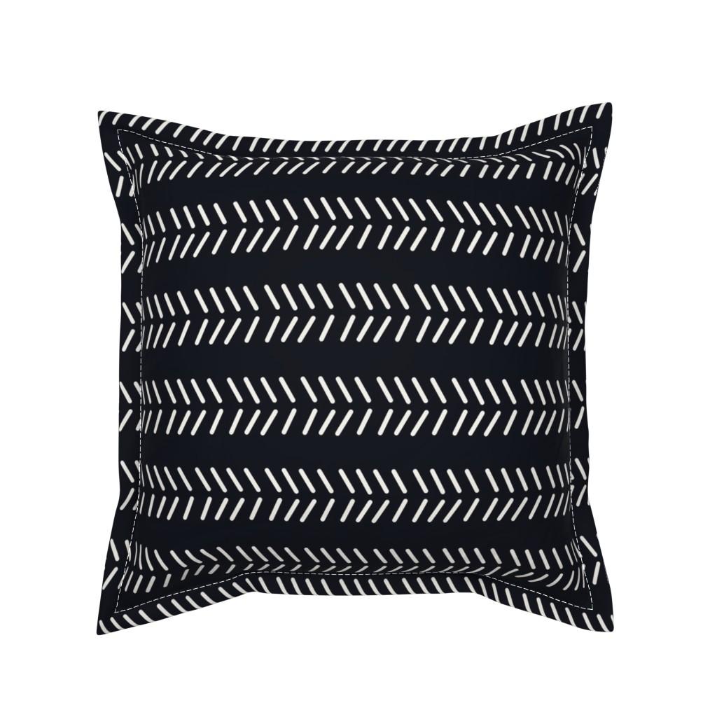 Serama Throw Pillow featuring Mudcloth 3 by kelly_korver