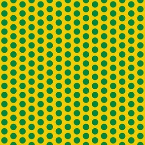 Polka_Dot Gold & Green