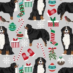 bernese mountain dogs christmas fabric cute dogs fabric xmas holiday dog design