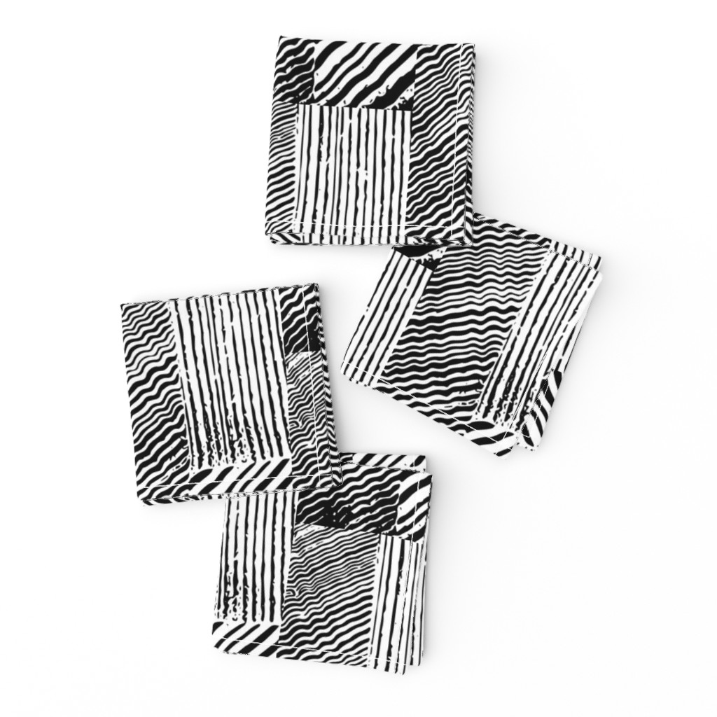 Frizzle Cocktail Napkins featuring Wood grain stripes by lfntextiles