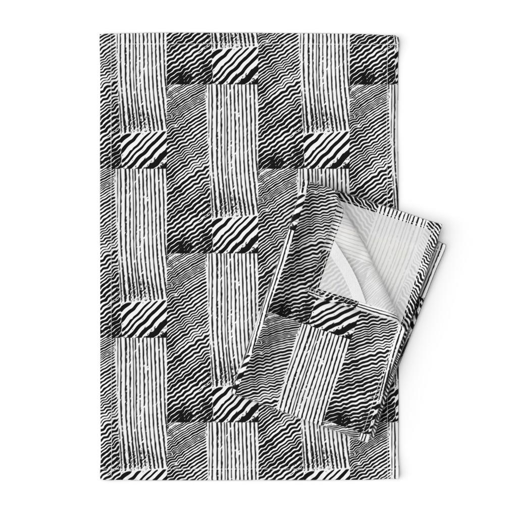 Orpington Tea Towels featuring Wood grain stripes by lfntextiles