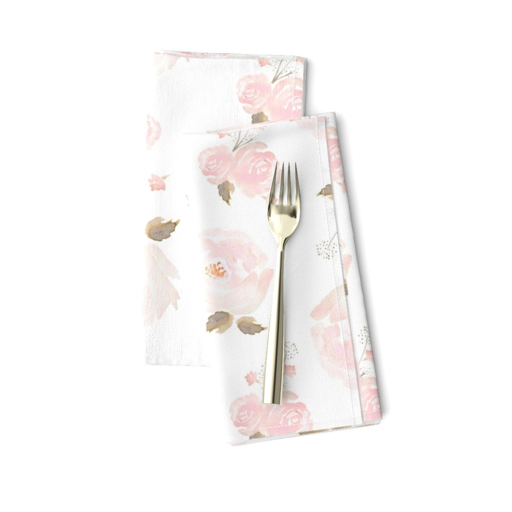 Amarela Dinner Napkins featuring Indy Bloom Blush Rose B by indybloomdesign
